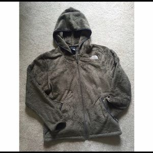 Brown Hooded North Face Jacket